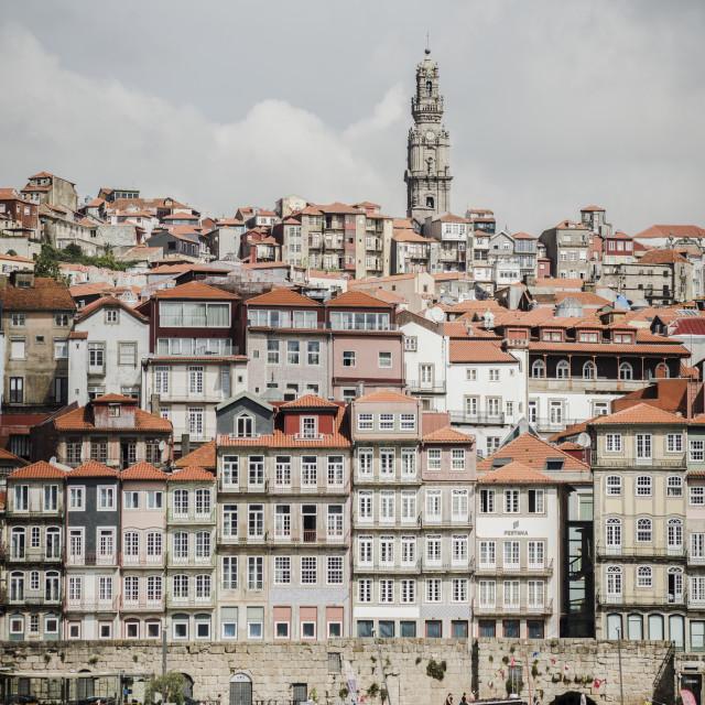 """""""Porto, cityscape across the Douro River, Portugal, Europe."""" stock image"""