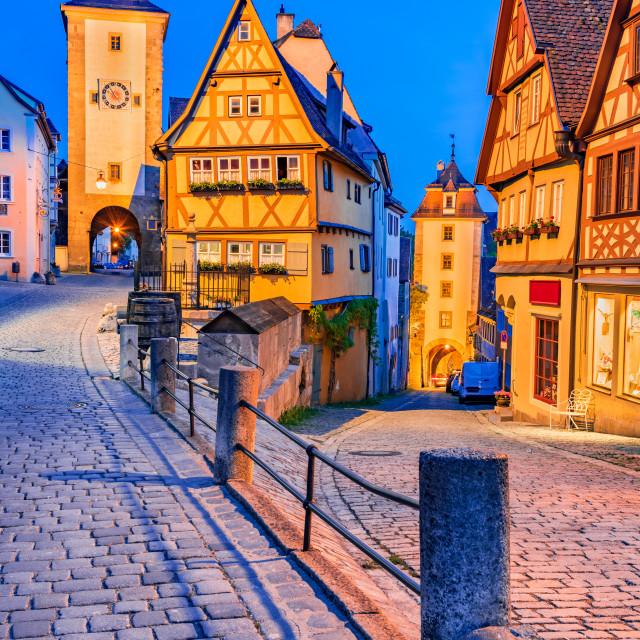 """Rothenburg ob der Tauber - Bavaria, Germany."" stock image"