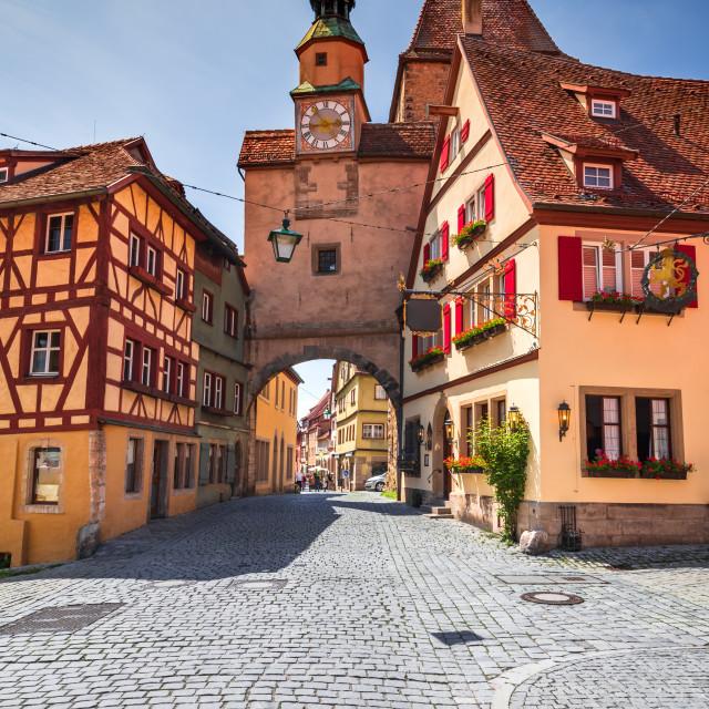"""Rothenburg ob der Tauber - Markus Tower, Franconia, Germany"" stock image"