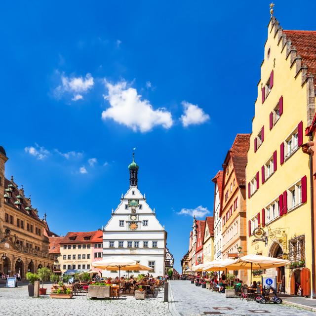 """Markplatz of Rothenburg ob der Tauber - Bavaria, Germany"" stock image"