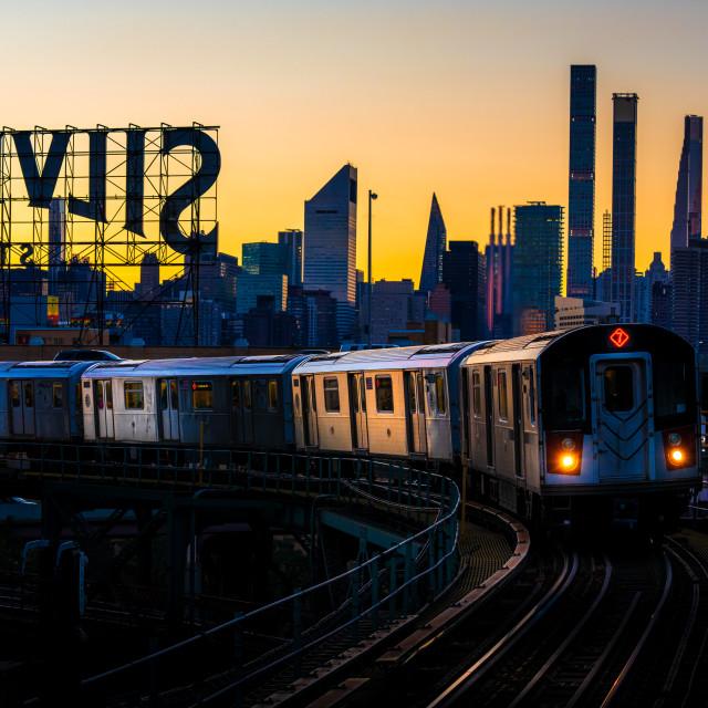 """7 Train NYC"" stock image"