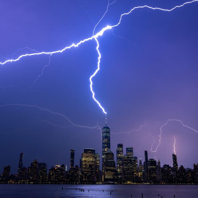 """Electrifing New York City"" stock image"