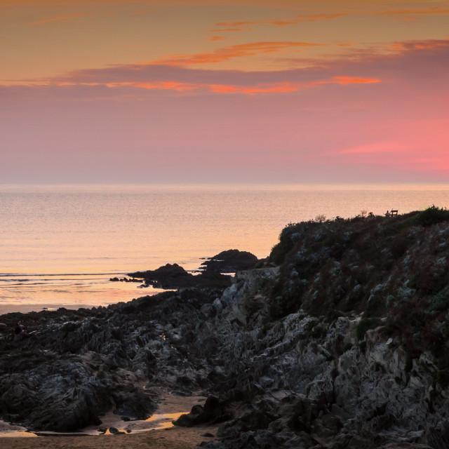 """""""Woolacombe sunset"""" stock image"""