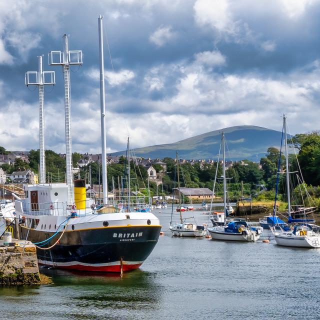 """""""Caernarfon Port, Gwynedd, north-west Wales, UK."""" stock image"""