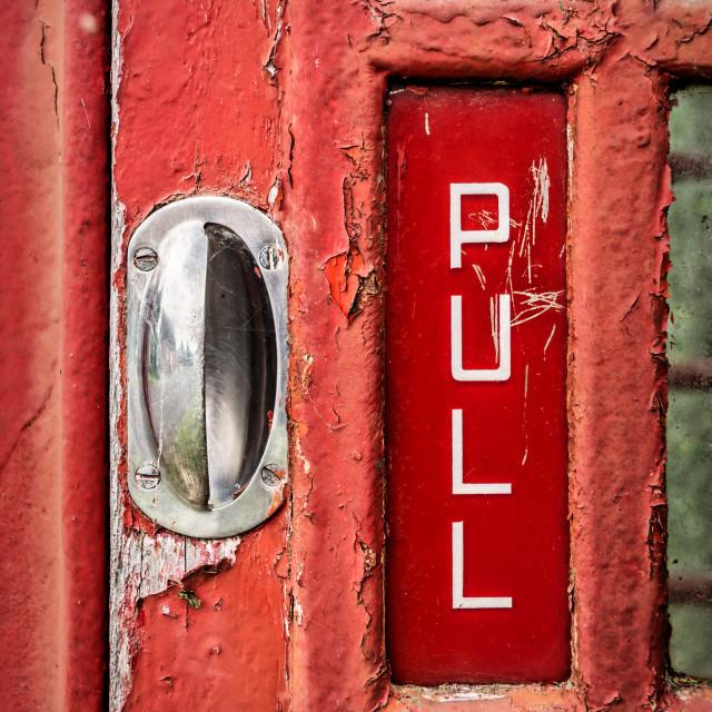 """Pull"" stock image"