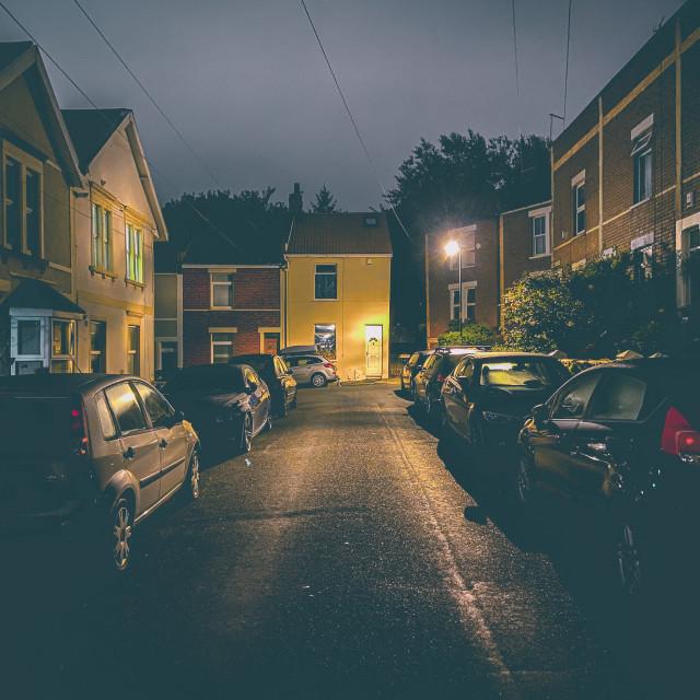 """Sleeping suburbs"" stock image"