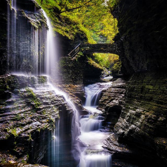 """""""Chasing Waterfalls"""" stock image"""