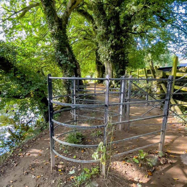 """Kissing Gate, Burnsall."" stock image"