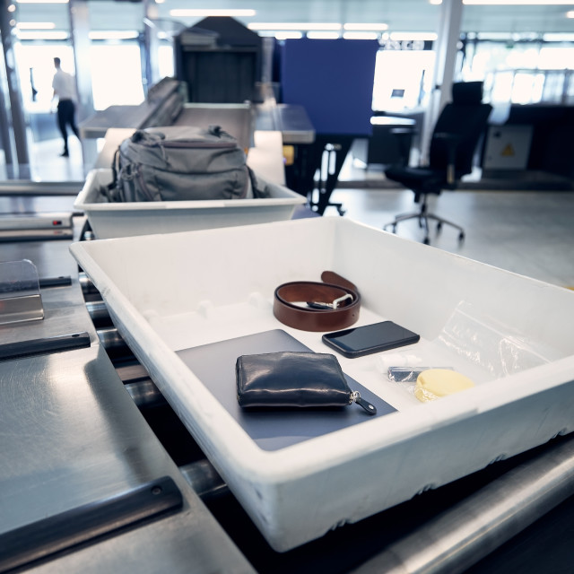 """""""Airport security check"""" stock image"""