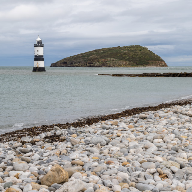 """Penmon Point Lighthouse"" stock image"
