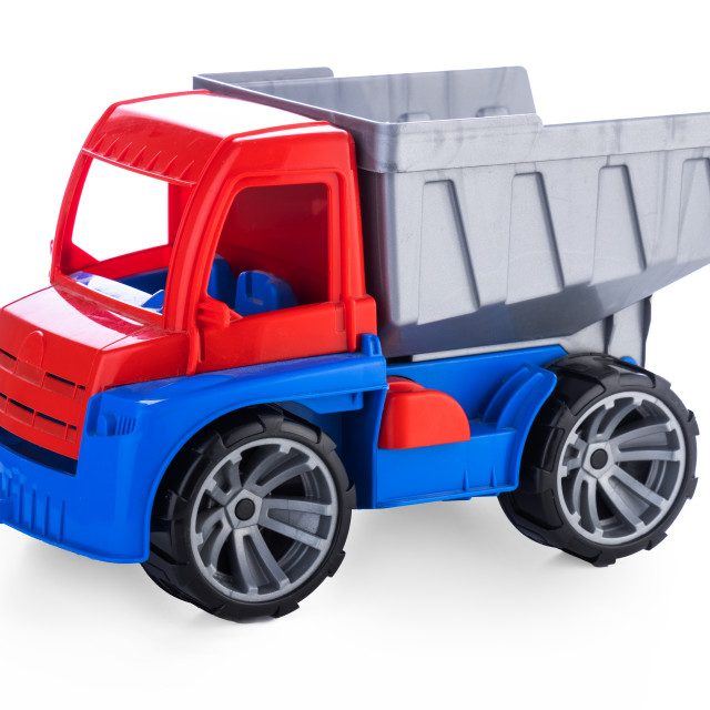 """""""Colorful toy truck or construction lorry isolated on white backg"""" stock image"""
