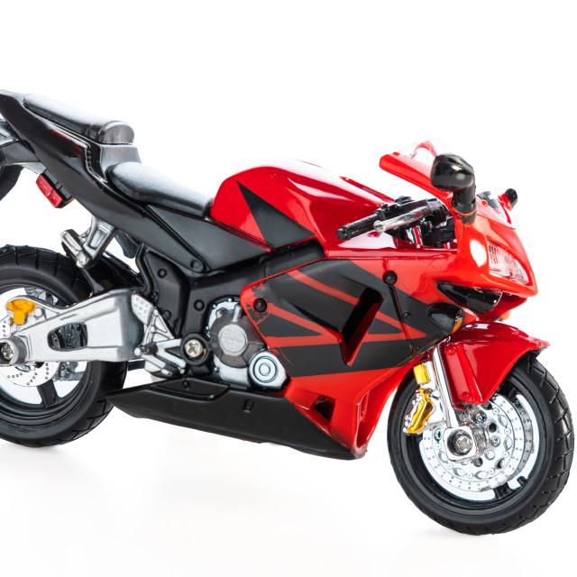 """""""Motorbike toy isolated on white"""" stock image"""