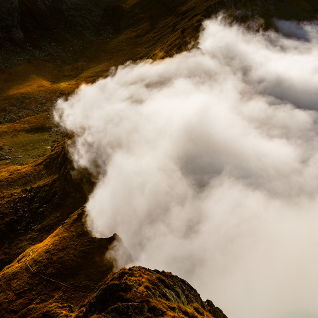 """""""Sea of clouds"""" stock image"""