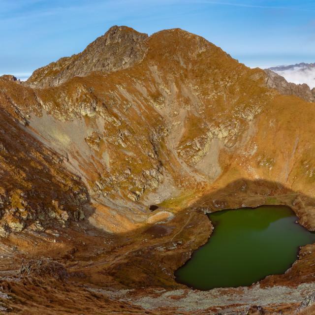 """""""Capra Lake"""" stock image"""