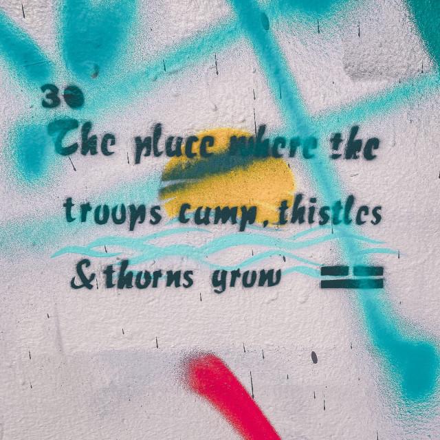 """Philosophical street art"" stock image"