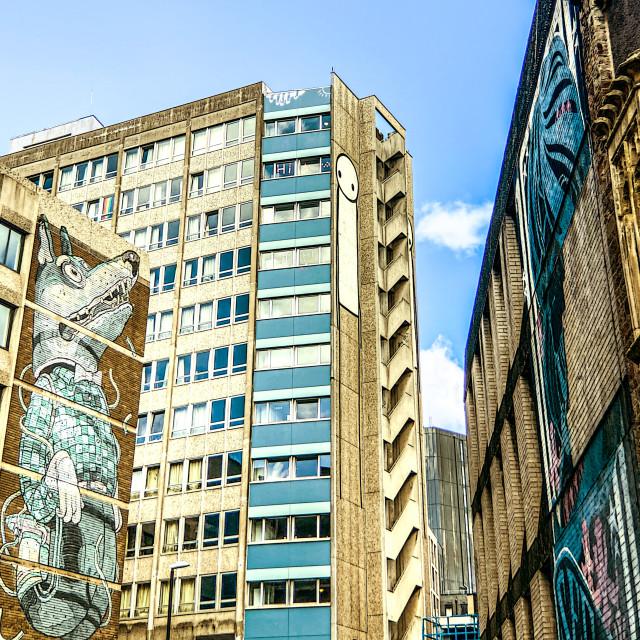 """Bristol street art"" stock image"