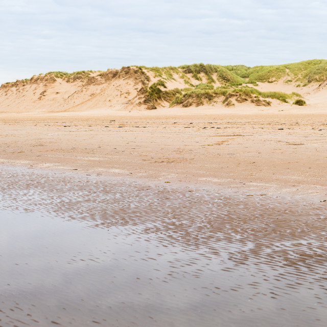 """""""Ripples on Formby beach"""" stock image"""