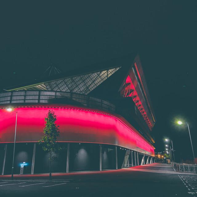 """Ashton Gate stadium at night"" stock image"