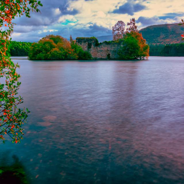 """""""Loch an Eilein in Autumnal Light"""" stock image"""