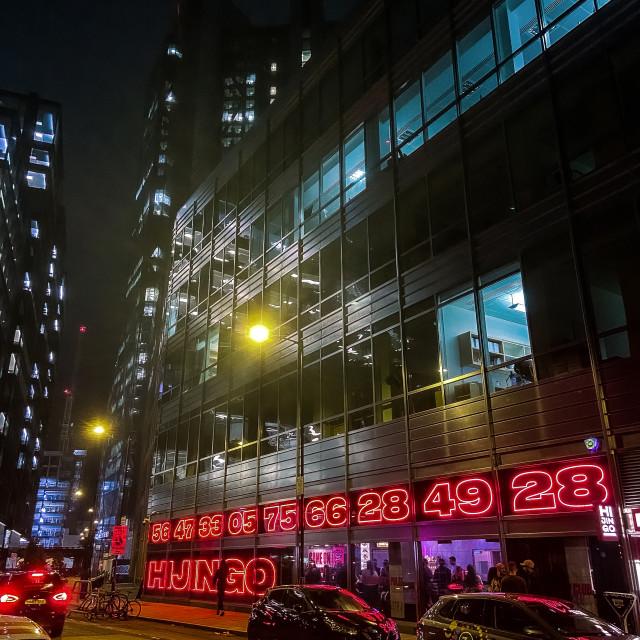 """""""Neon city"""" stock image"""