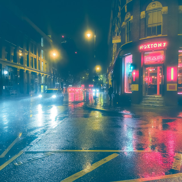 """""""Wet night out"""" stock image"""