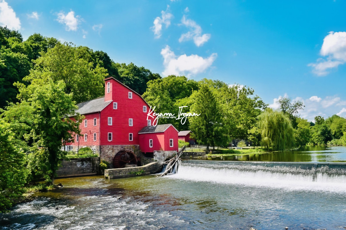 """""""Red Mill in Summer"""" stock image"""