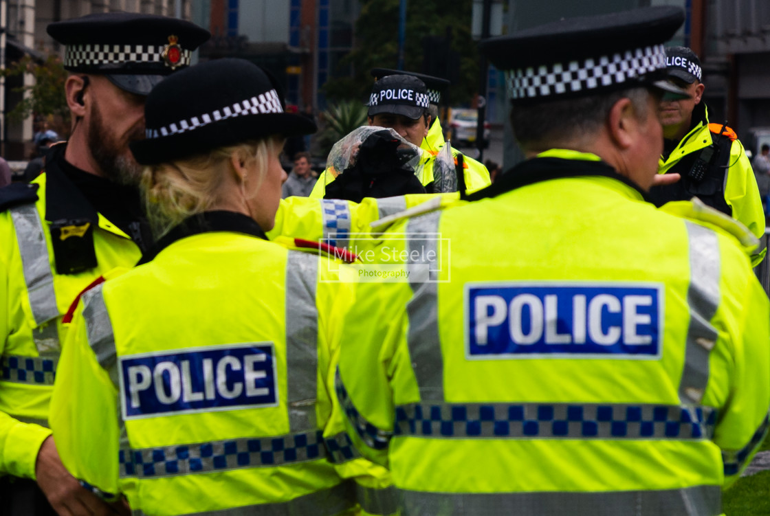 """Police Surveillance Manchester"" stock image"