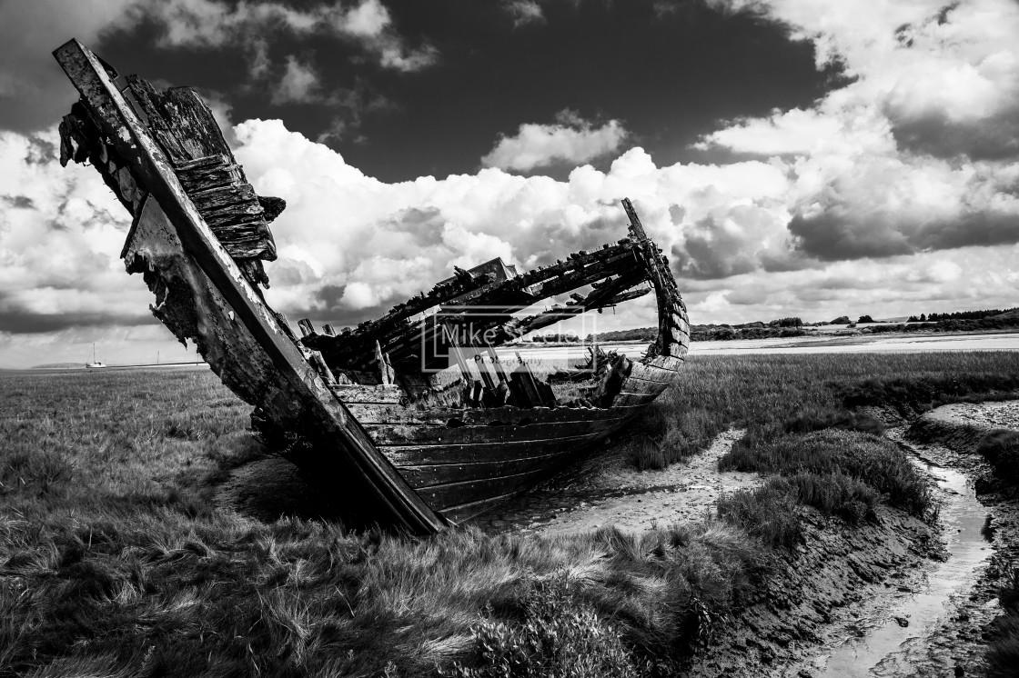"""Shipwreck off Fleetwood"" stock image"