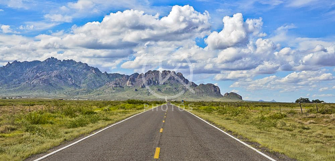 """""""Road to Rock City, NM"""" stock image"""