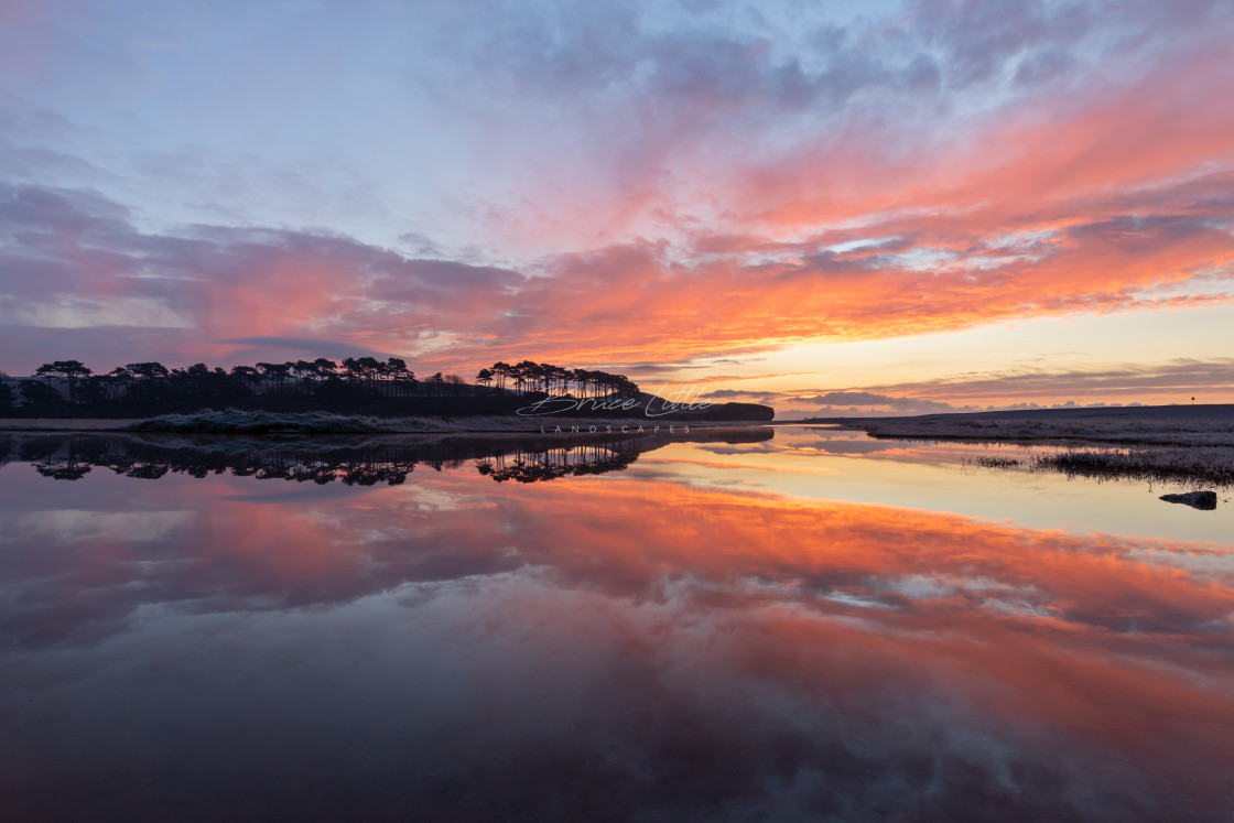 """""""New Years Sunrise at Budleigh Salterton"""" stock image"""