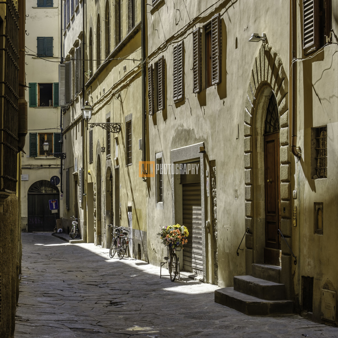 """""""A street in florence"""" stock image"""
