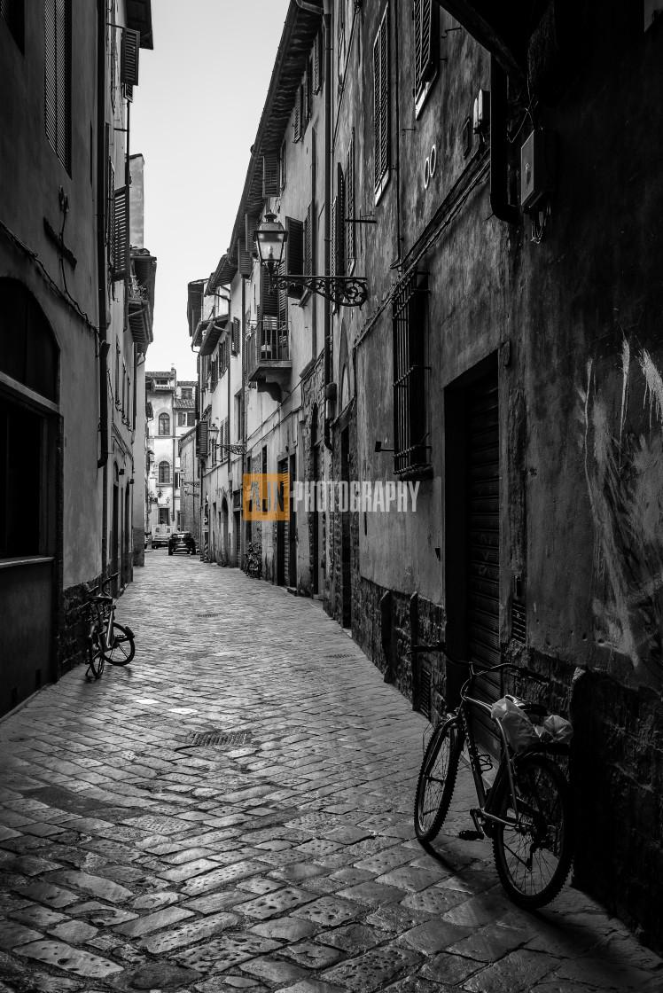 """Florence street"" stock image"