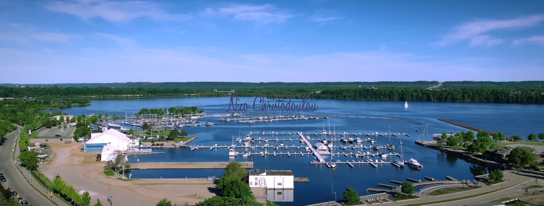 """""""Our Bay view, of Hamilton Harbourfront Park."""" stock image"""