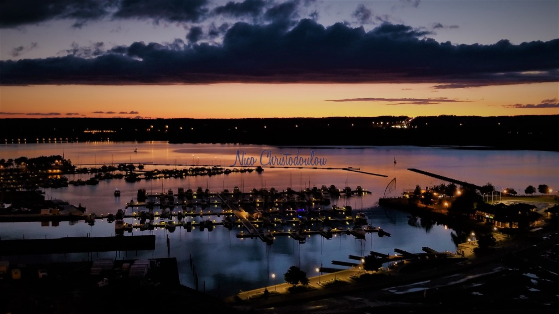 """""""Those North End sunsets, by the lake ..."""" stock image"""