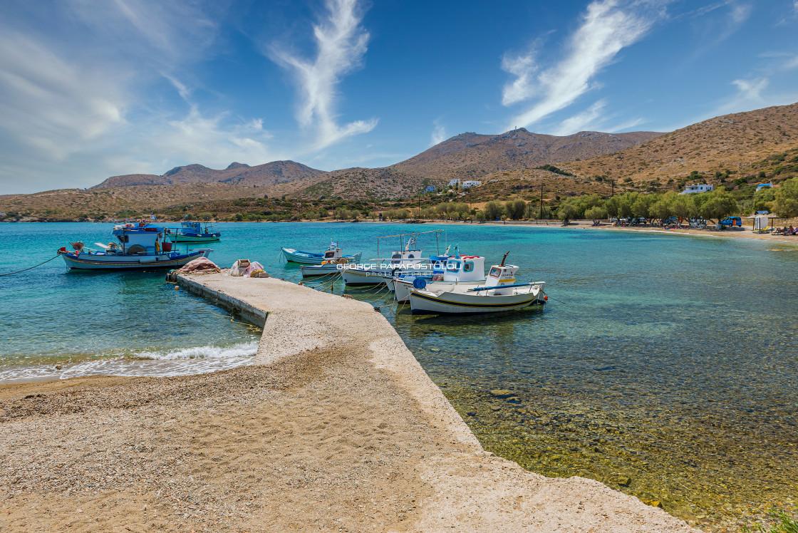 """Blefoutis beach Leros island Greece"" stock image"