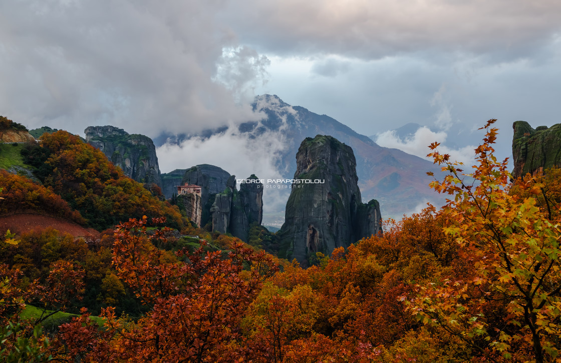 """Autumn in Meteora"" stock image"