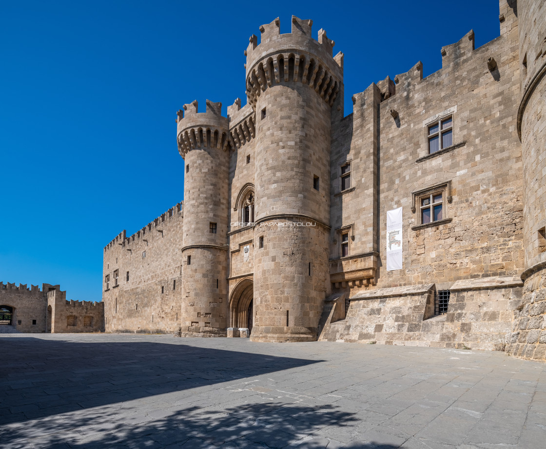 """Palace of the Grand Master of the Knights of Rhodes"" stock image"