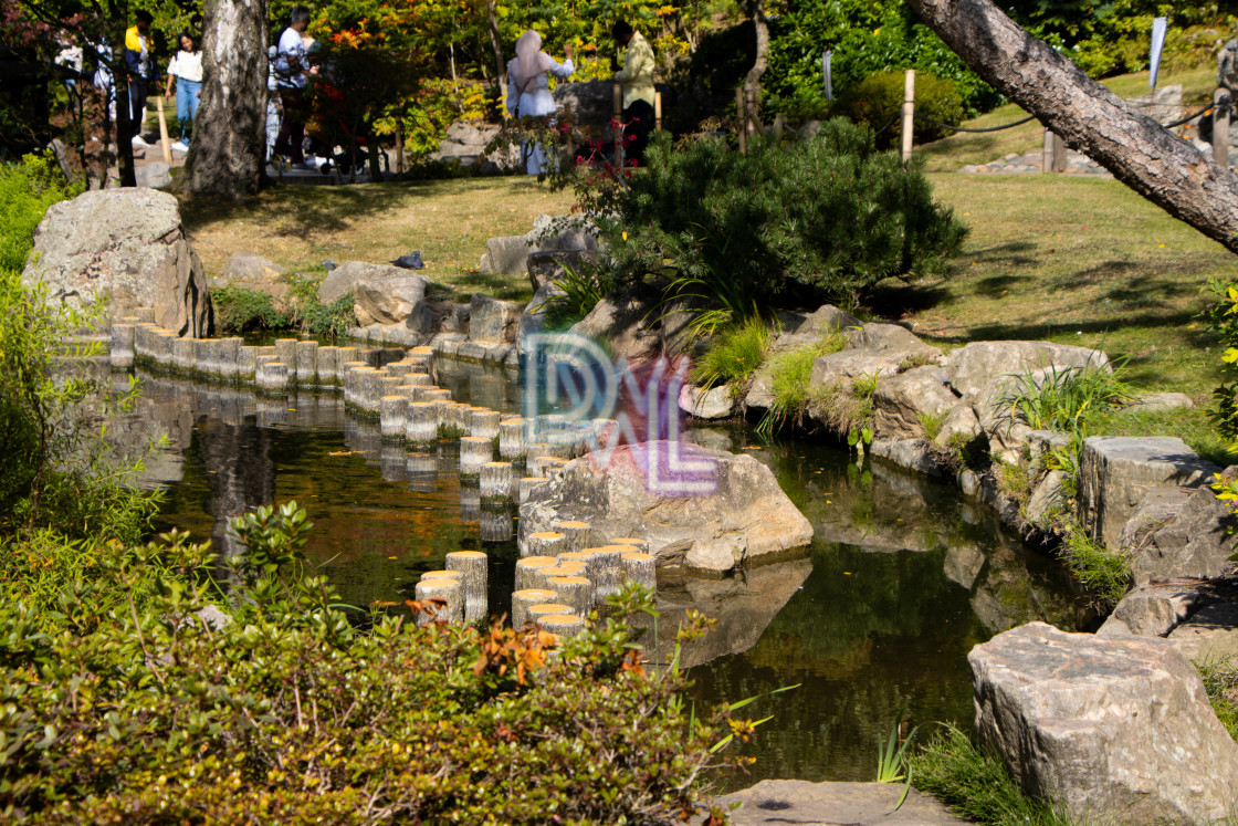 """Afternoons at Holland park"" stock image"