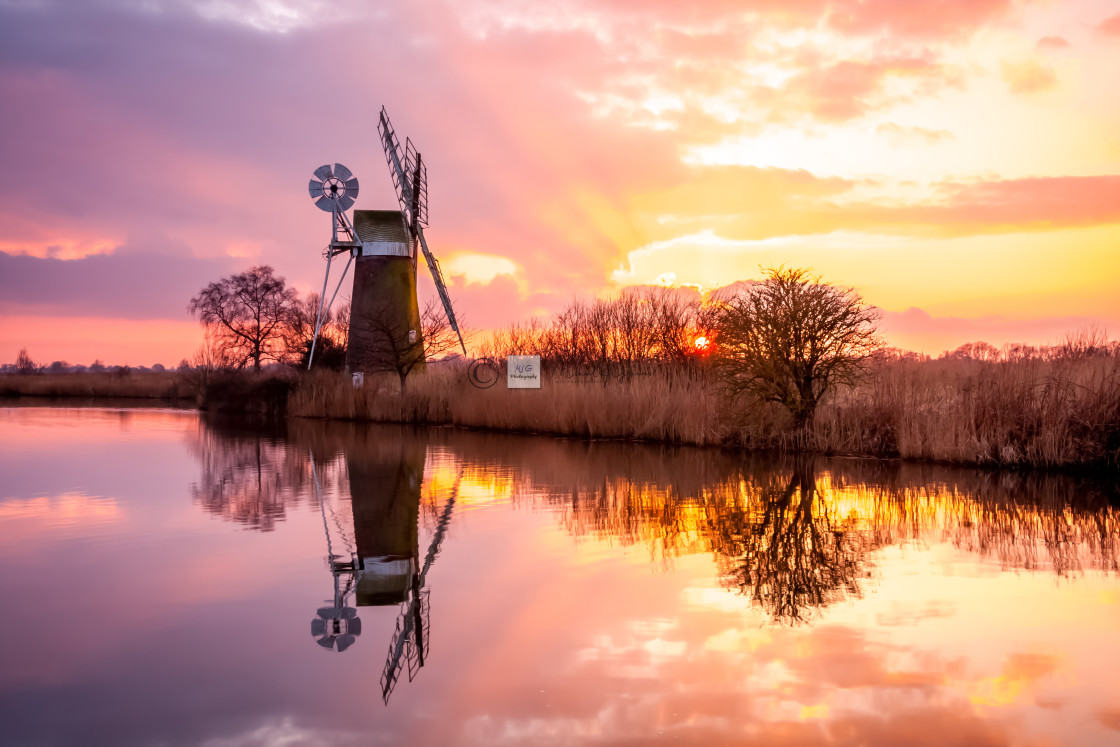 """Turf Fen Windmill"" stock image"