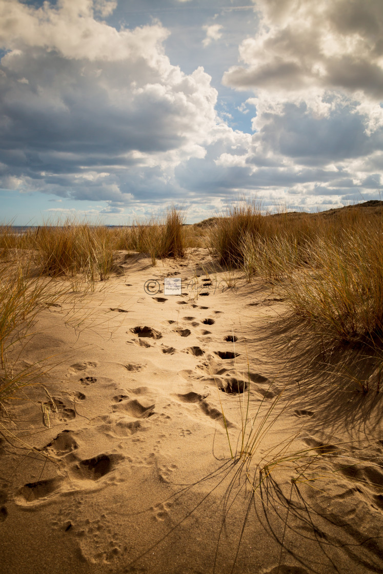 """Crimdon Beach"" stock image"