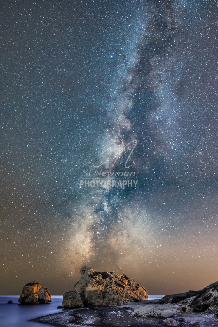 """Aphrodite's Rock Milky Way"" stock image"