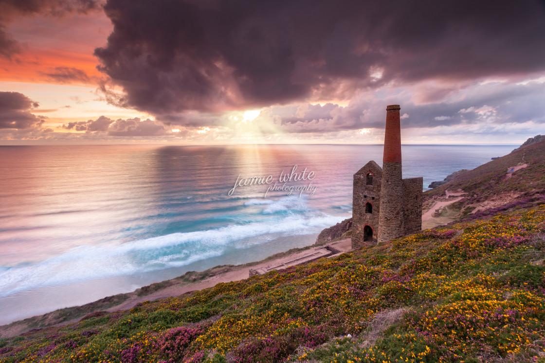 """""""Wheal Coates Sunset"""" stock image"""
