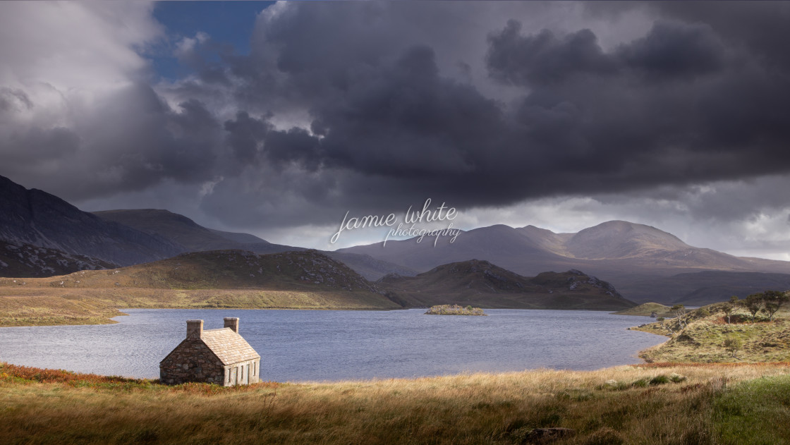 """""""Loch More, Caithness"""" stock image"""