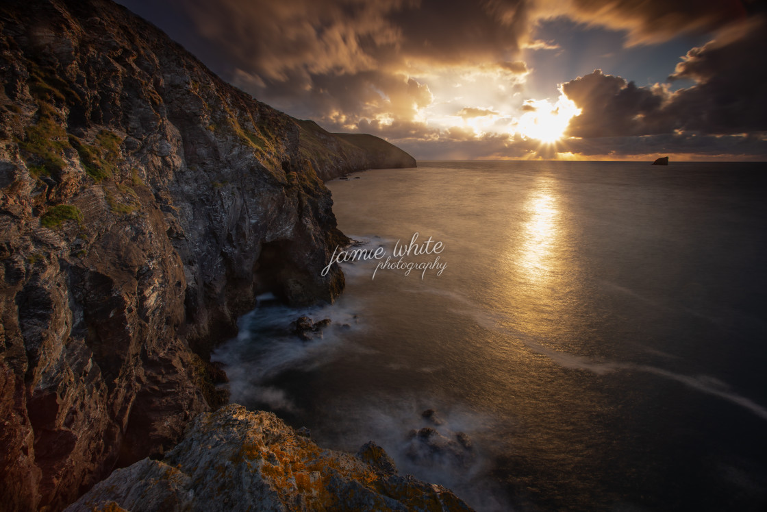 """Trevaunance Cove, Cornwall"" stock image"