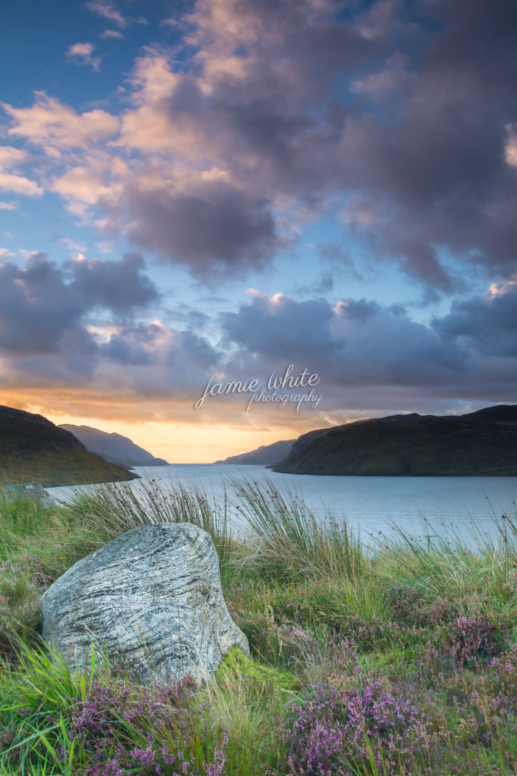 """""""Loch Shiphoirt, Isle of Lewis"""" stock image"""