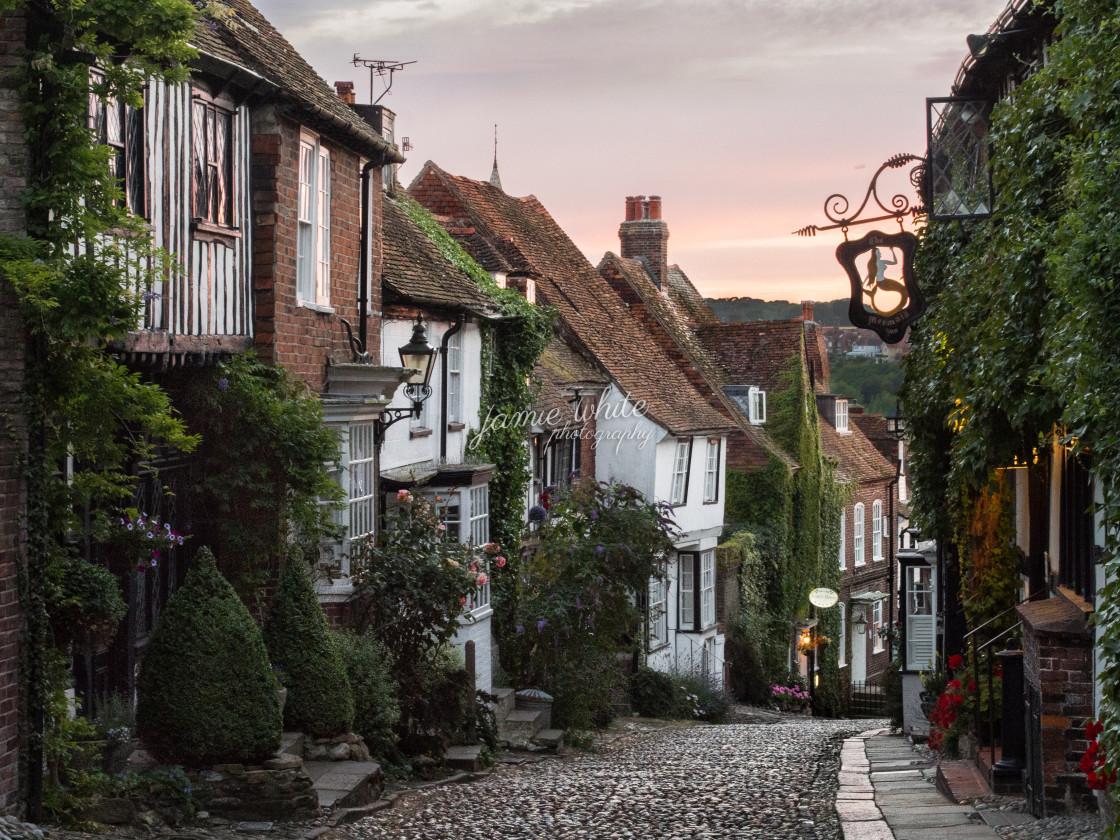 """""""Mermaid street, Rye"""" stock image"""