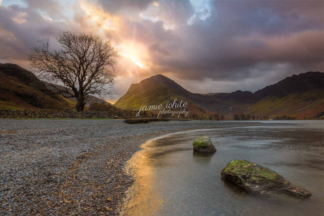 """""""Buttermere Dawn"""" stock image"""