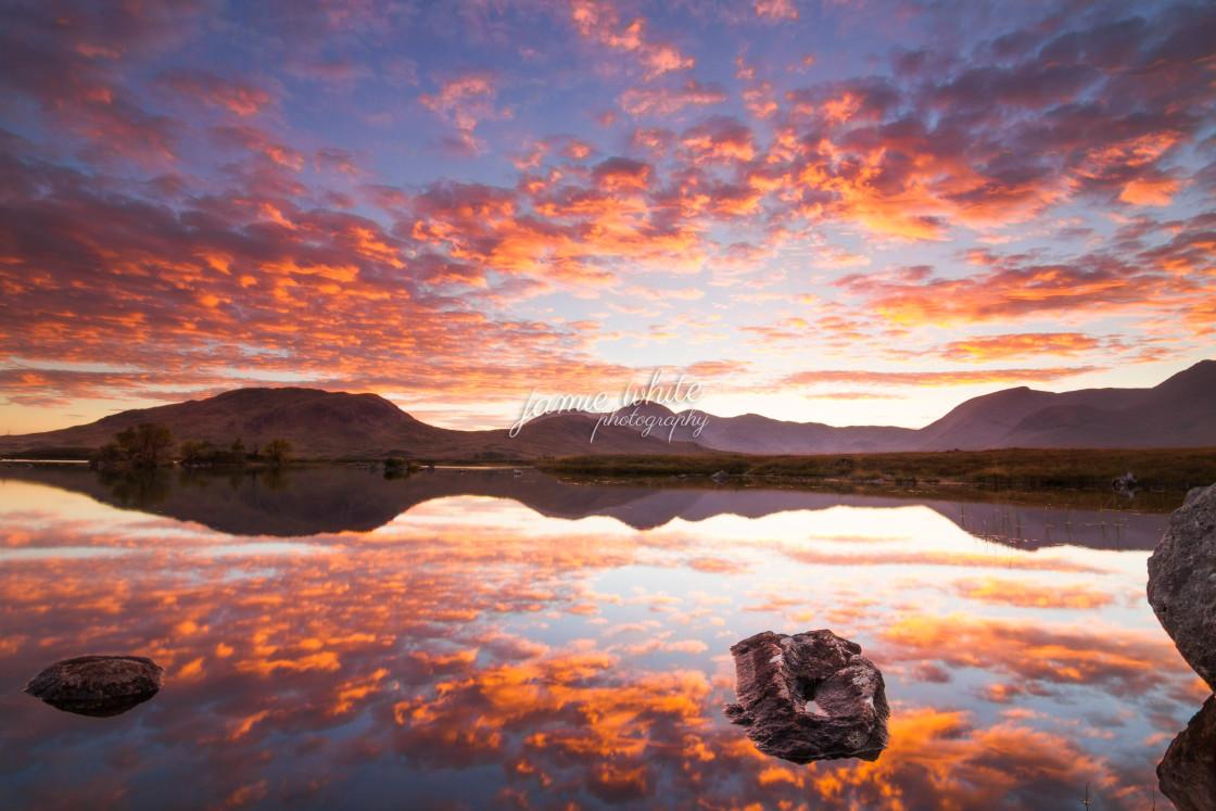 """Rannoch Moor sunset"" stock image"