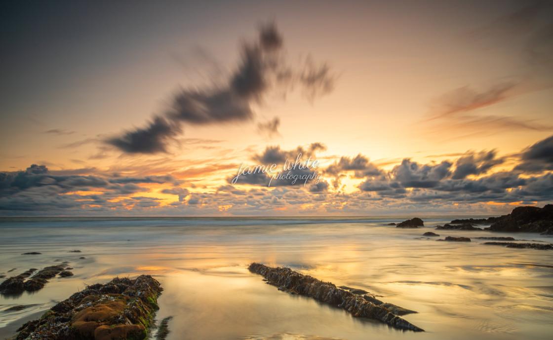 """""""Cornish coastline"""" stock image"""