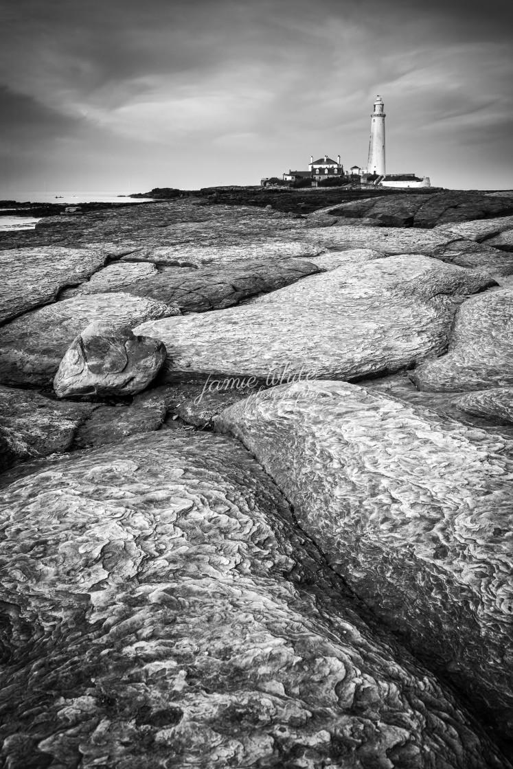 """St. Mary's Lighthouse"" stock image"